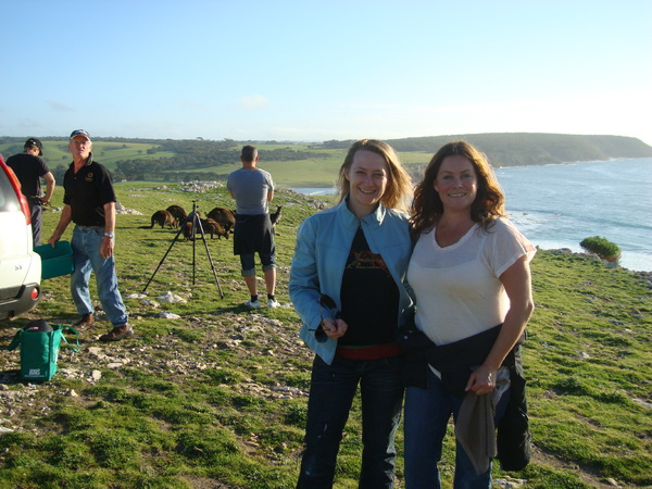 On location with the team in Kangaroo Island : Behind the scenes : fiona watson production