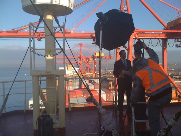 Adam Taylor shooting for CBA with BMF : Behind the scenes : fiona watson production