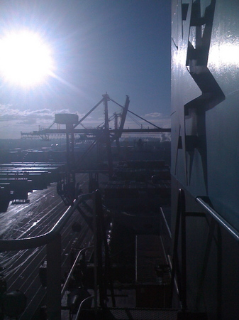 Container ship location. : Behind the scenes : fiona watson production